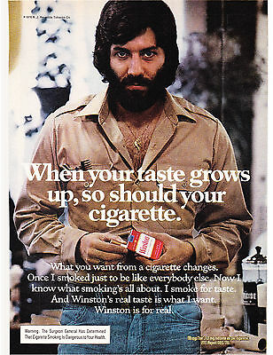 Original Print Ad-1977 When Your Taste Grows Up-So Should Your Cigarette-WINSTON
