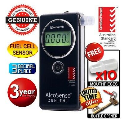 New Alcosense ZENITH PLUS Zenith+ Fuel Cell BREATHALYSER Andatech Alcohol Tester