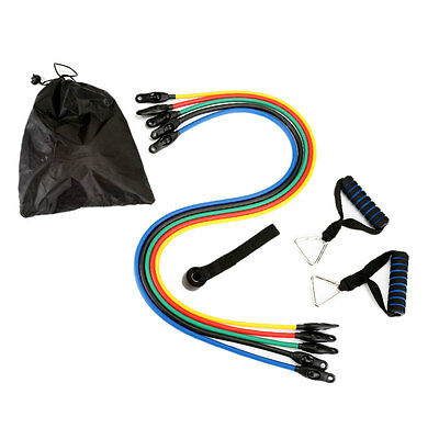 Resistance Bands Exercise 5 Elastic Rally Rope Yoga Pilate Fitness Arm Training
