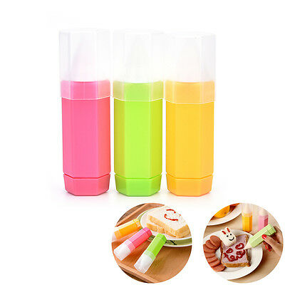 3PCS Cake Decorating Supply DIY Bar Cookie Pastry Baking Drawing Multicolor BDAU