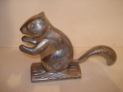 "Chromed Metal ""Squirrel"" Nutcracker"