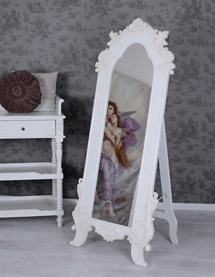 spiegel weiss shabby frankreich eur 25 00 picclick de. Black Bedroom Furniture Sets. Home Design Ideas