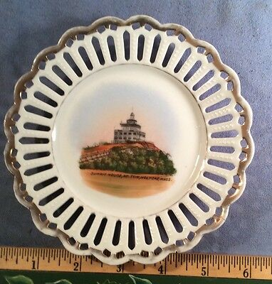 Vintage Mt Tom Holyoke Ma Souvenir China Plate Made In Germany 5 3/4 Inch