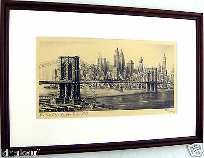 EF NEW YORK CITY 1950,BROOKLYN BRIDGE,EAST RIVER,MANHATTAN,USA,Amerika,Valdeig