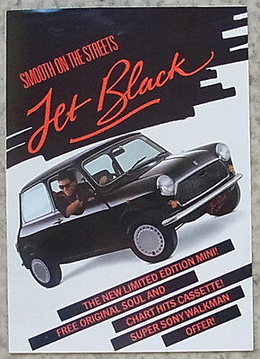 MINI RED HOT & JET BLACK LIMITED EDITION Car Sales Brochure 1988