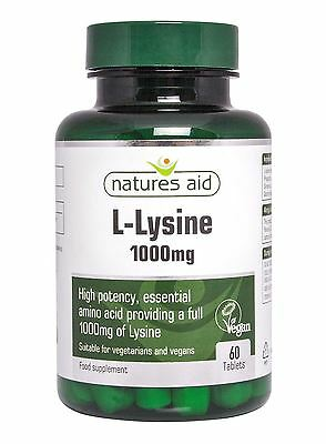 Natures Aid L-Lysine 1000mg - Pack of 60 Tablets