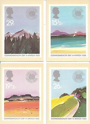 (29564) GB PHQ Postcards Commonwealth Day 1983 - Mint