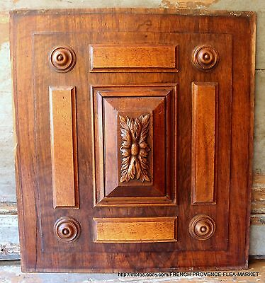 PEDIMENT 19 in RARE ANTIQUE FRENCH VICTORIAN GOTHIC HAND CARVED WOOD PANEL 2