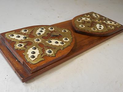 Antique Walnut Extending Book Slide , Book Ends     ,  ref 2097