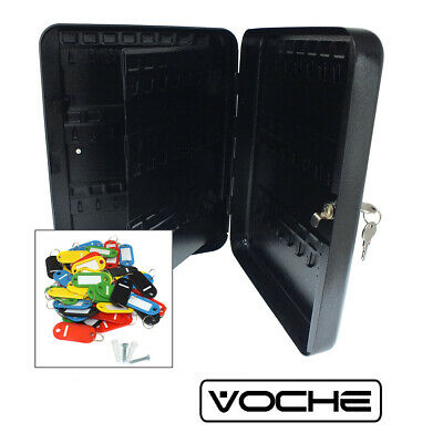 Voche 96 Hook Wall Mountable Steel Lockable Cabinet Security Case Box & Key Fobs