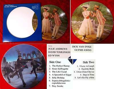 LP Disney Picture Disc Mary Poppins - Julie Andrews (Disneyland 3104) US 1981