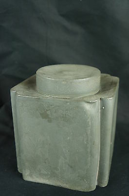 """Superb Antique chinese pewter tea caddy, 6 1/4"""", 19th C. century [Y8-W6-A9-E9]"""