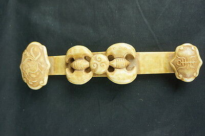 """Intricate carved chinese archaic stone carving Rui / sceptor 10"""" [Y8-W6-A9-E9]"""