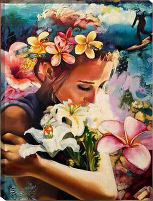 Painting by Number kit Beauty and Flowers Lady Woman Fairy Forest Girl HT7047
