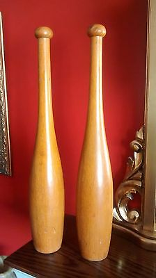 Wood Juggling Pins / Indian Clubs  1.5 lbs each