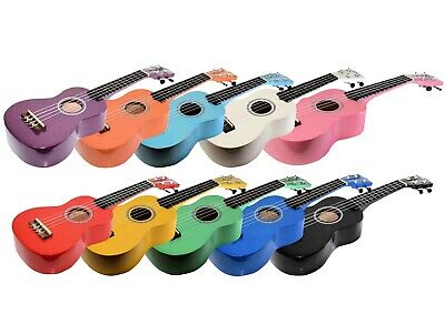 Ferris Soprano Ukulele With Case 9 Colour Options