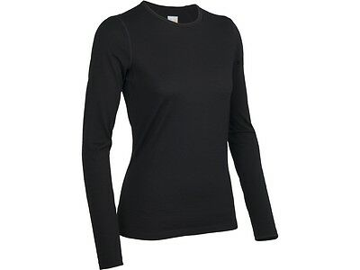 Icebreaker Oasis Long Sleeve Crewe Women Baselayer Shirt Langarm Damen schwarz