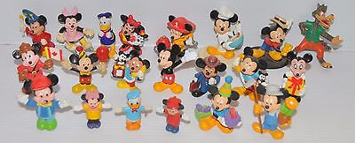lot/ collection of 21 various DISNEY PVC Figure Mickey Mouse, Donald Duck 1980s