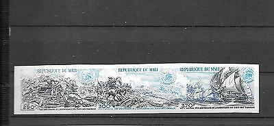 MALI- American Revolution strip of 3 in unlisted imperf variety- nice