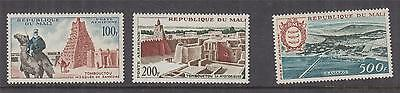 MALI, 1961 Air, Pictorial set of 3, lhm.