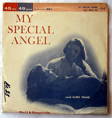 """7"""" Single - My special Angel / You send me - BARRY FRANK"""