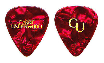 Carrie Underwood Red Pearl Guitar Pick - 2016 Storyteller Tour