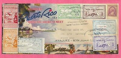 Puerto Rico Semi Official Air Mails Hydroplane Konfresi 1St Flight Cover #1