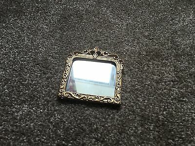 Dolls house miniature Wall Mirror In Ornate Gold Frame