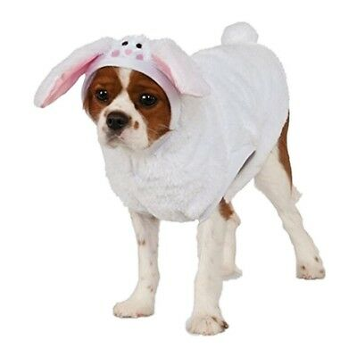 Easter Bunny Hoodie with Ears & Tail - Pet Costume - 6 Sizes - Dog Cat fnt