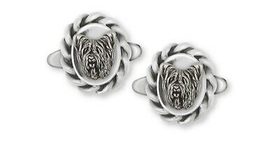 Skye Terrier Cufflinks Jewelry Sterling Silver Handmade Dog Cufflinks SKY1H-CL