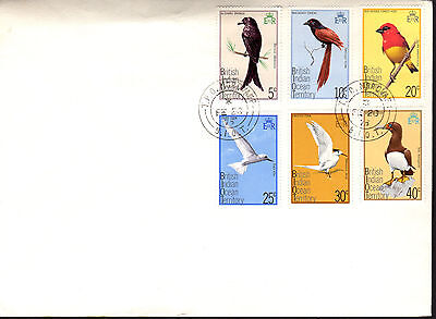 British Indian Ocean Territory - Birds - 63-8 First Day Pm - 1975