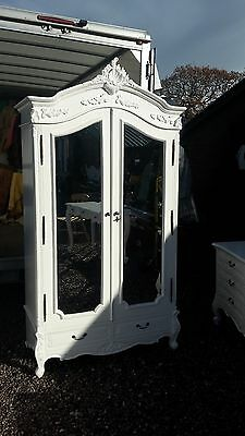 White French Style 2 Door Wardrobe / Armoire With Drawers Delivery Avail