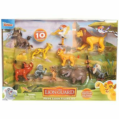 * Disney The Lion Guard Pride Lands 10 Figure Set Toy Lion King Playset Gift *