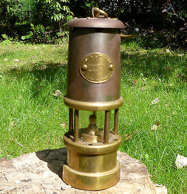 Brass & Steel Davy Mine Safety Lamp Replica Hockley Limelight Wales