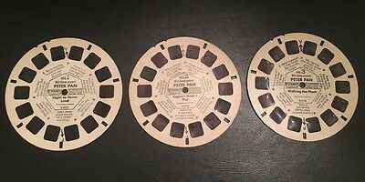 Vintage View Master Slides Reels Peter Pan Lot of 3 Flight to Neverland, Captain