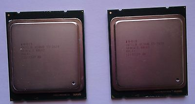 Matched Pair of Intel E5-2620 2.0Ghz SR0KW 6 Cores 12 Threads Processors