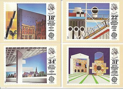 (40841) GB PHQ Mint Postcards - Architects in Europe 1987