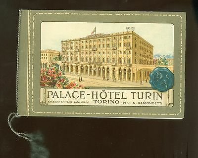 1920s Pretty Booklet Palace-Hotel Turin Promo