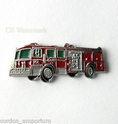 United States Firefighter 1500 Fire Engine Lapel Pin Badge 3/4 Inch