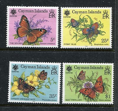 Cayman 624-627, MNH, Insects  Butterflies 1990. x25063
