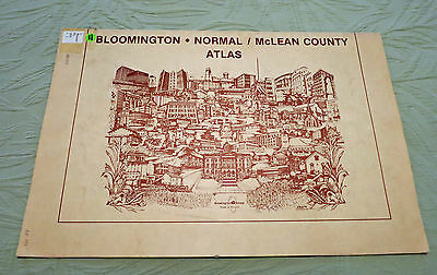 1979 BLOOMINGTON NORMAL MCLEAN COUNTY ATLAS BY CHAMBER OF COMMERCE ILLINOIS  ngm