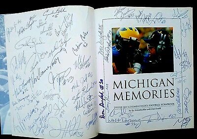 Michigan book Autographed by 56 wolverines greats Ron Kramer Al Wister Carter