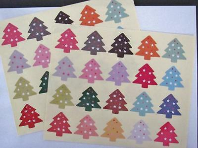 CHRISTMAS TREE STICKERS pk of 40 labels seals food gift wrapping xmas
