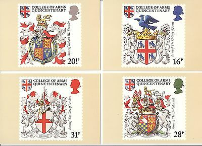 (93878) GB PHQ Postcards Heraldry College of Arms set 1984 mint