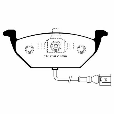 DP21329 - EBC Greenstuff Front Brake Pads Set For VW Caddy Life 2.0 2004-2010
