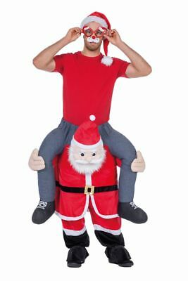 Nikolaus Weihnachtsmann Carry me Huckepack Kostüm Carrying Men Santa Claus