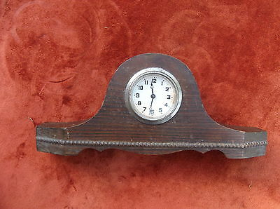 Vintage Mantel Clock/oak Cased Wind-Up Time Piece/desktop Clock/shelf Clock