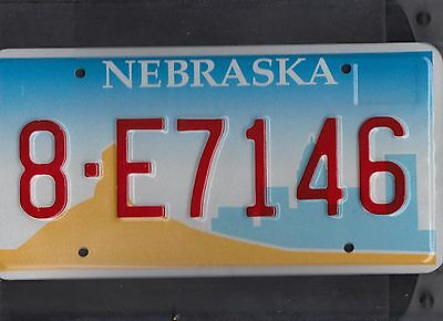 "NEBRASKA passenger license plate ""8-E7146"" *****MINT*****"