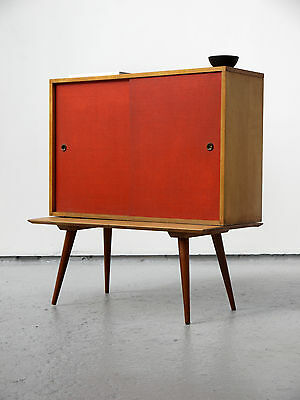 1950s VINTAGE ORIGINAL PAUL MCCOBB GROUP PLANNER CREDENZA CABINET ON BENCH USA