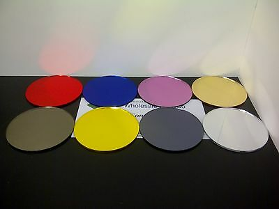 Acrylic Mirror Perspex Round Coloured Discs Ideal For Wedding Table Centre Stand